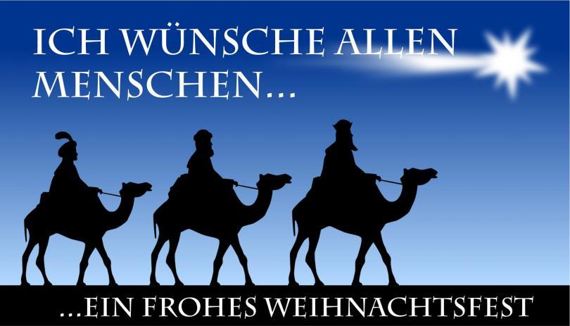 """Automagnetschild """"Frohe Weihnachten an alle""""  180 x 100mm"""