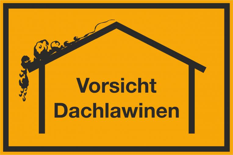 """Schild Hinweisschild  """"Vorsicht Dachlawinen"""" 200 x 135 mm"""