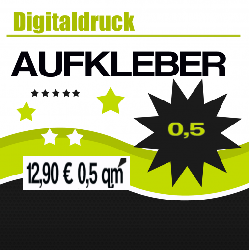 Digitaldruck Aufkleber Autoaufkleber Wunschdruck drucken 0,5qm