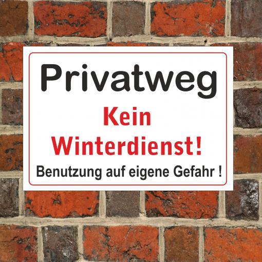 Schild Hinweisschild -kein Winterdienst- 200 x 300 mm