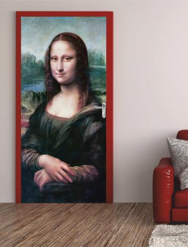 """Türposter""""Mona Lisa"""" Türaufkleber Türfolie Türtapete - selbstklebend Nr.200"""