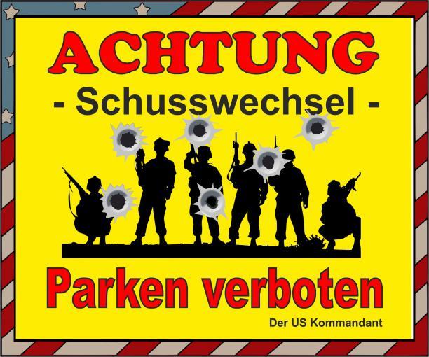 Schild Hinweisschild -Parken Verboten Gefahr- 300x250 mm
