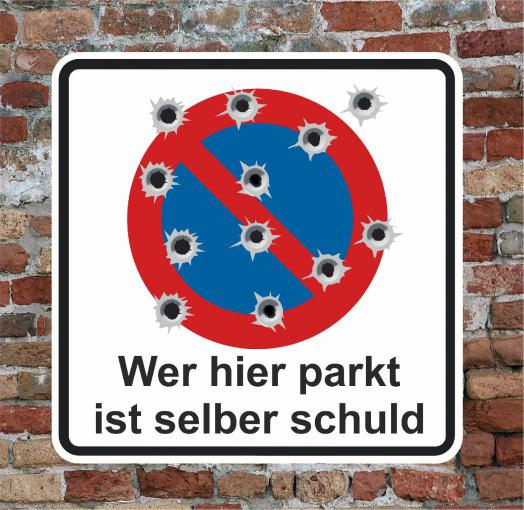 Schild Hinweisschild -Parken verboten- Gefahr 250 x 250 mm