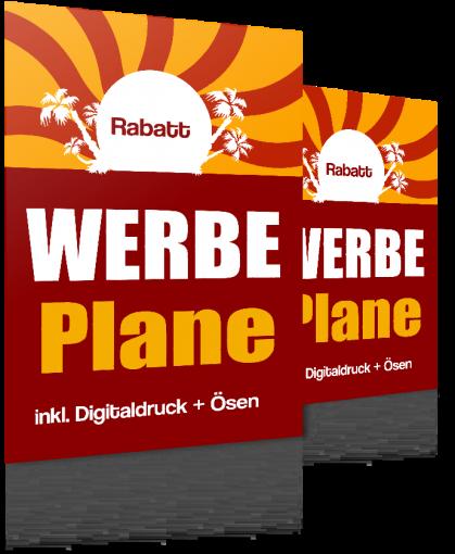 Werbebanner 60x300cm Werbepane * PVC-Plane * Druck nach Ihrer Vorlage mit Ösen