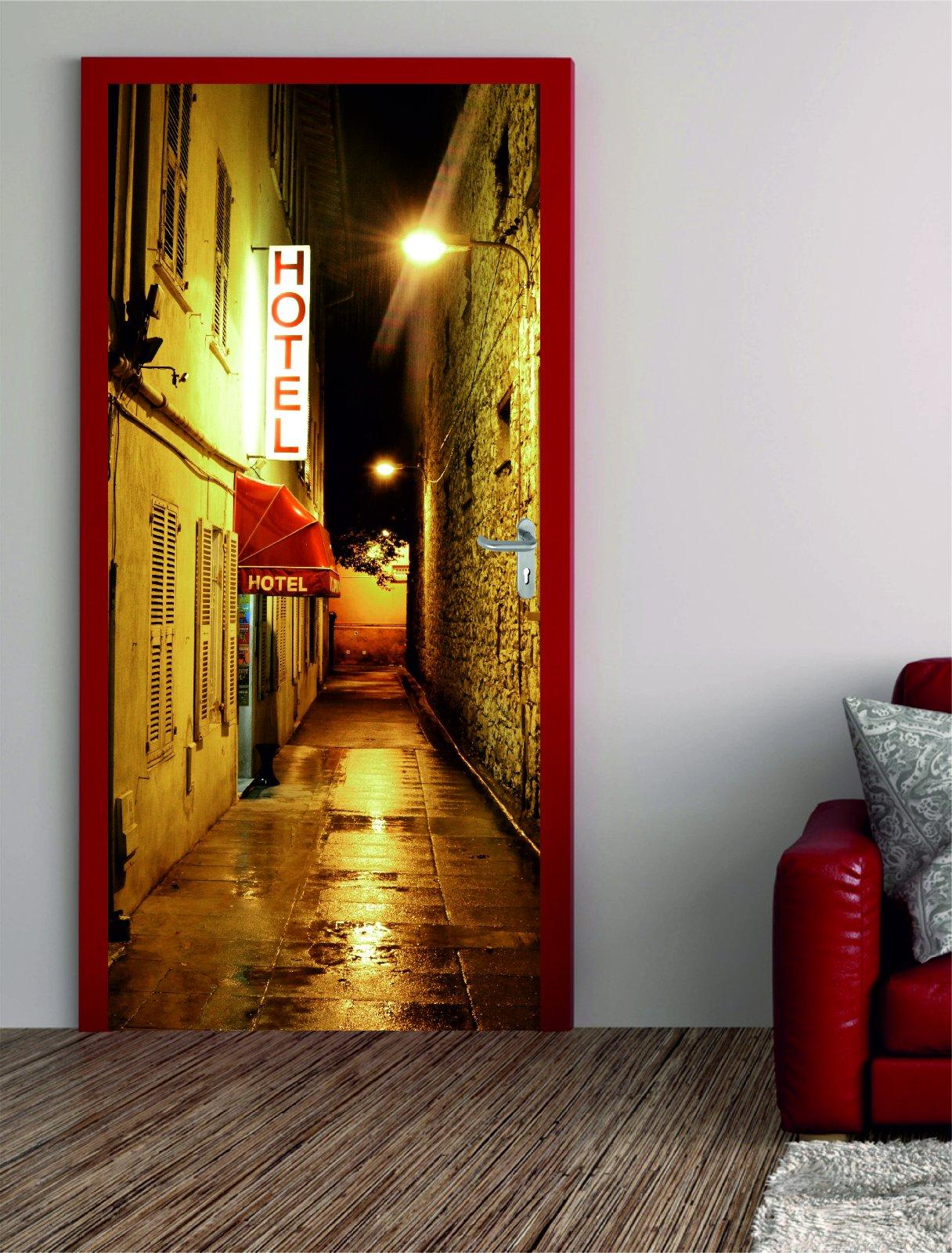 digitaldruck t rposter hotel s dlich. Black Bedroom Furniture Sets. Home Design Ideas