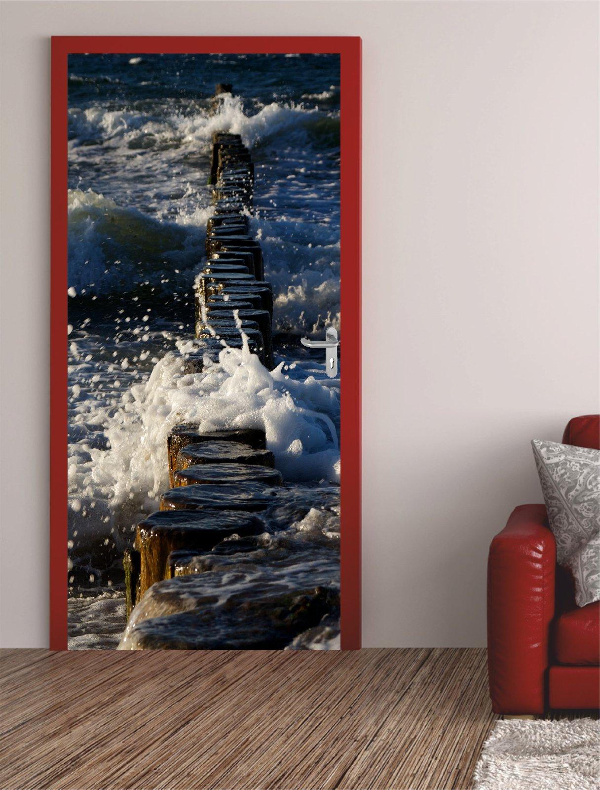 digitaldruck t rposter ostsee groynes. Black Bedroom Furniture Sets. Home Design Ideas