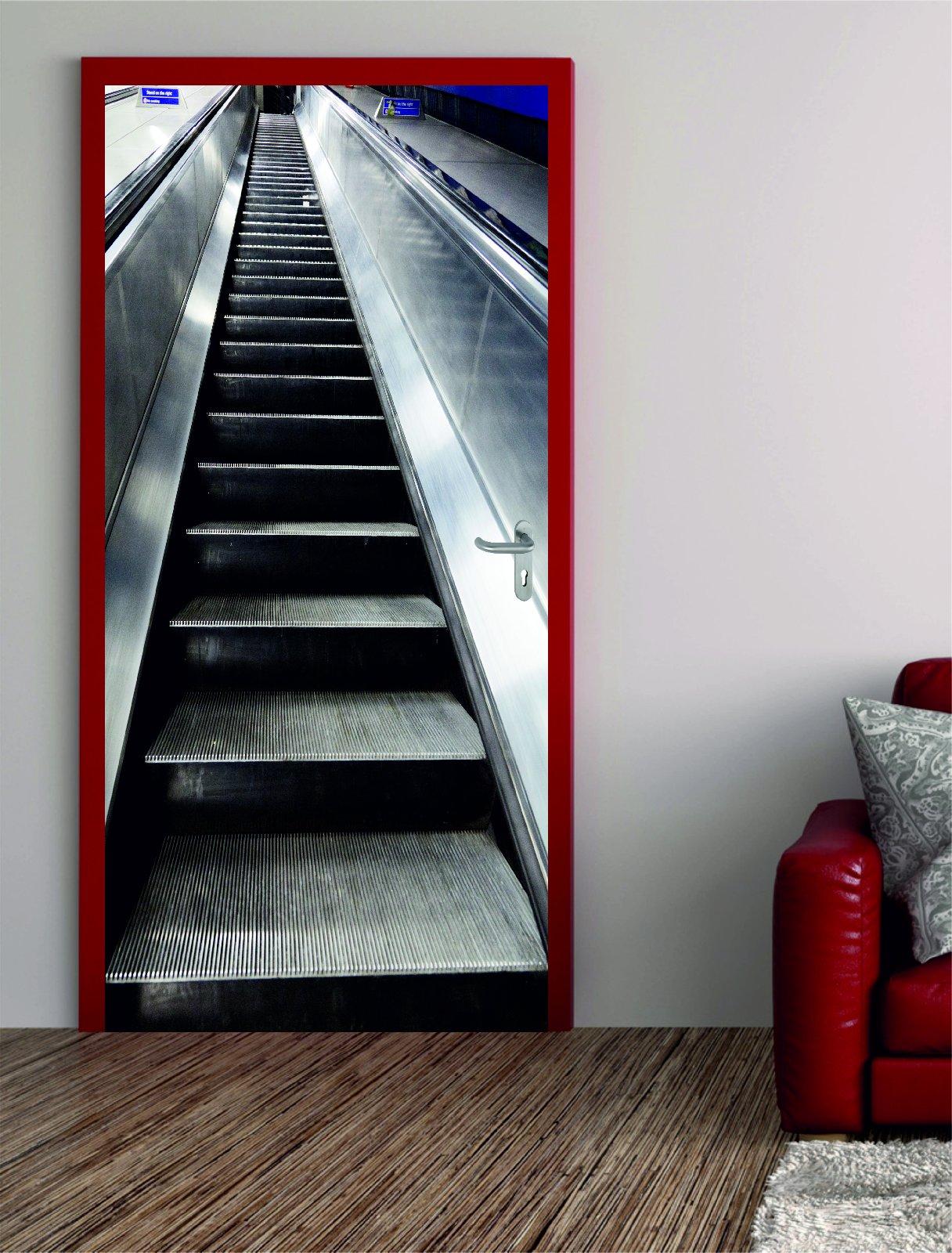 digitaldruck t rposter rolltreppe t raufkleber t rfolie t rtapete. Black Bedroom Furniture Sets. Home Design Ideas