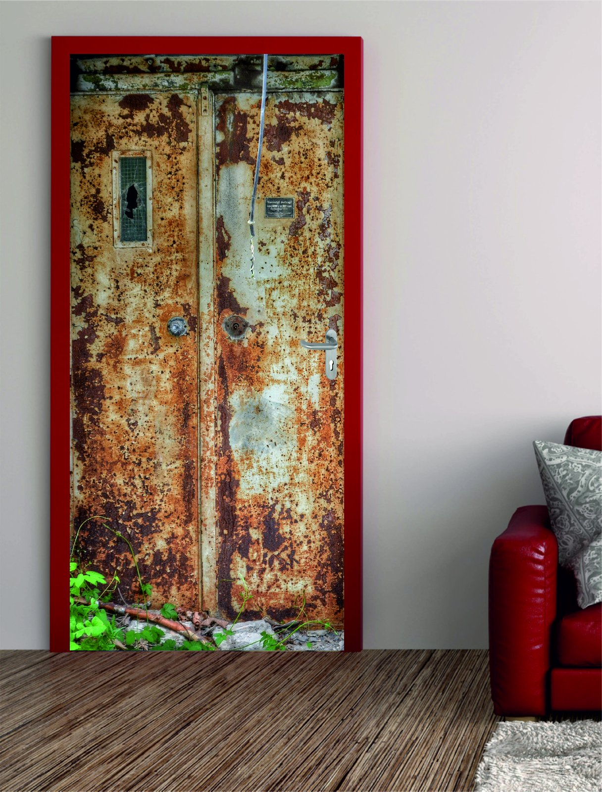 digitaldruck t rposter alter aufzug. Black Bedroom Furniture Sets. Home Design Ideas